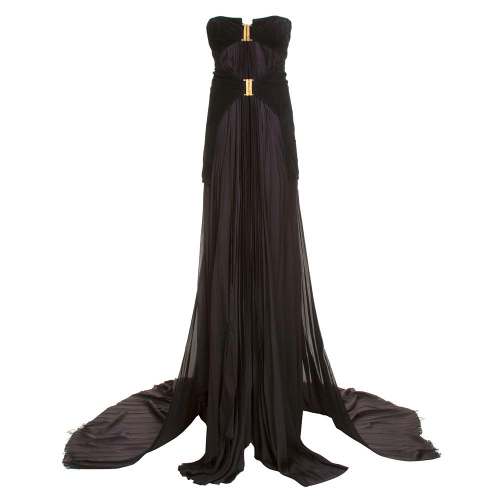 Vestido Seda Balmain