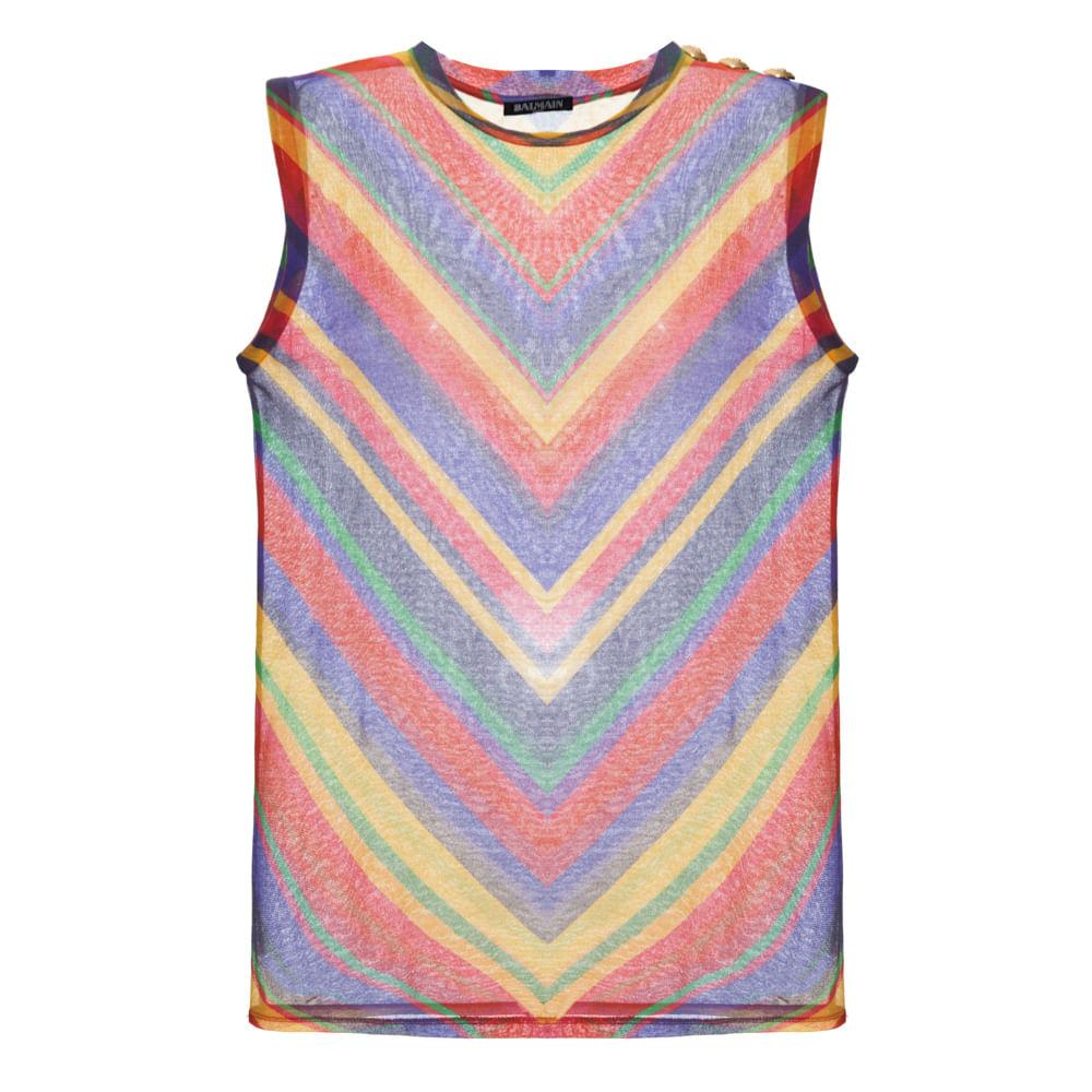 Camiseta Colorida Balmain