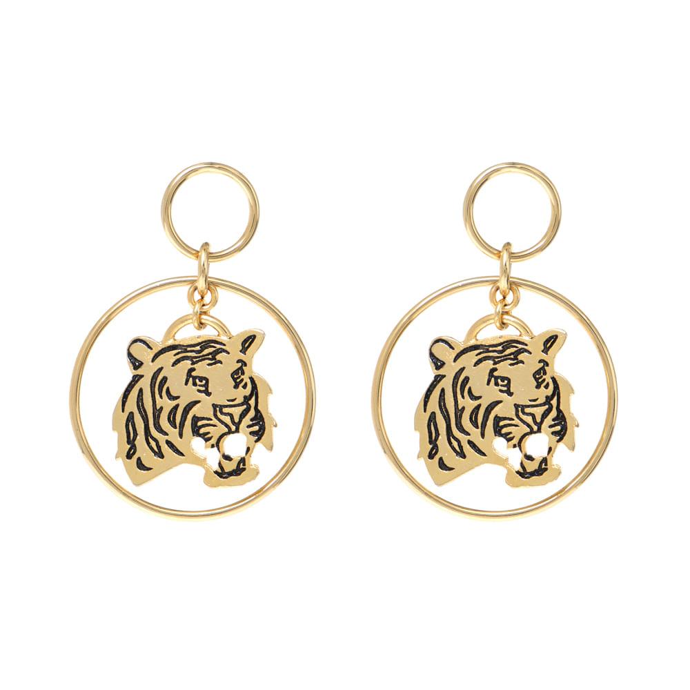 Brinco Metal Tiger - Brinco Metal Tiger Dourado/unico