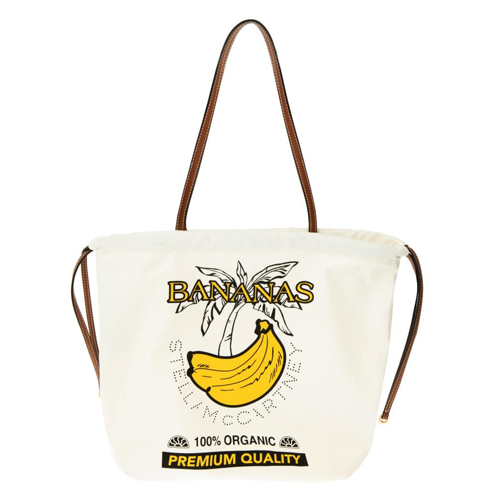 Bolsa Tote Banana Stella Mccartney - Bolsa Tote Banana Stella Mccartney Off White/unico